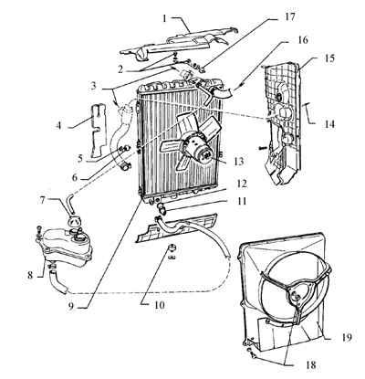 Радиотор в сборе ( 5 -цилиндровые модели)