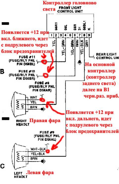 Контроллер головного света